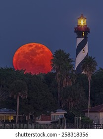 Supermoon at St. Augustine Light ~ Supermoon on March '11