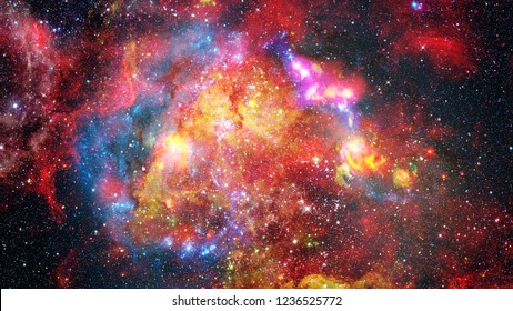 Supernova explosion with glowing nebula in the background. Elements of this image furnished by NASA.