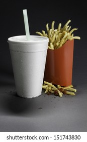 Supersize epidemic - fast food soda and fries