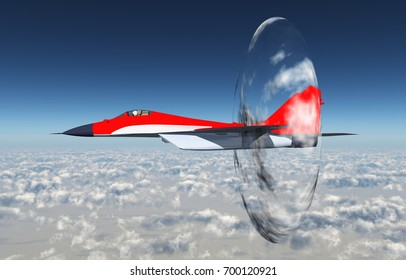 Supersonic aircraft Computer generated 3D illustration
