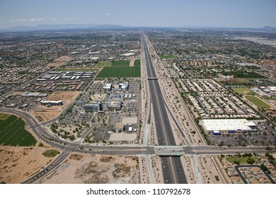 Superstition Freeway and Hospital Exit from above