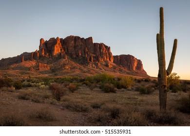 Superstition Mountains in Arizona