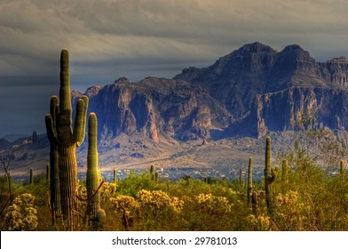 Superstition mountains east of Phoenix, AZ.