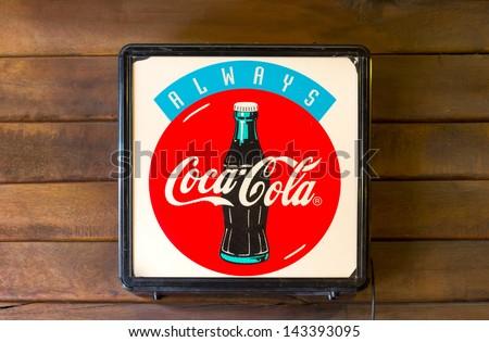 Suphanburi Thailandjune 16 Light Box Cocacola Stock Photo Edit Now