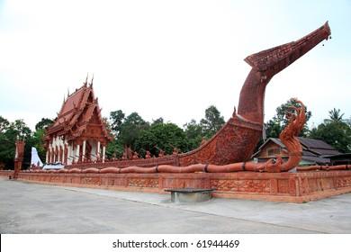 Suphannahong buddhist church in Wat Ban Na Muang, Ubon Ratchathani, Thailand.