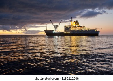 Supply vessel Saint Helena, the only connection of St. Helena Island to the rest of the world