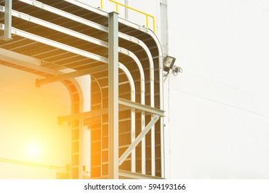 Support cable tray for sub-station building.