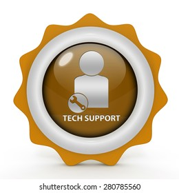 Support circular icon on white background