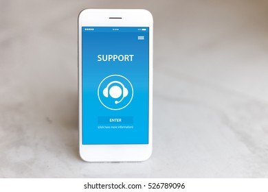 SUPPORT CONCEPT ON SCREEN