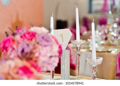 Support elegant candle set her table in natural light