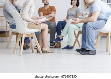 Support group meeting for people struggling with addiction