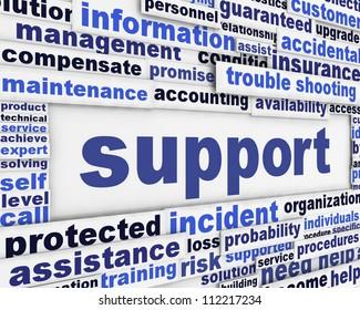 Support message background. Customer help poster design