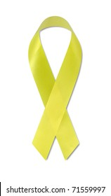 Support Our Troops ribbon on white with clipping path