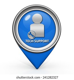 Support pointer icon on white background