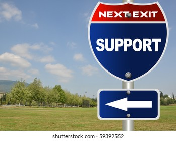 Support road sign