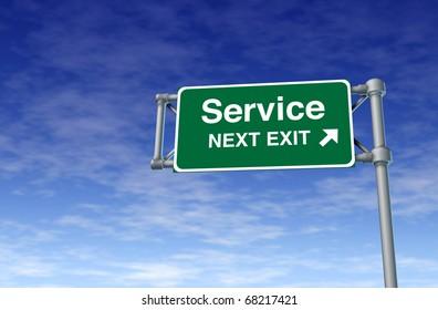 support service tech help customer assistance street road sign