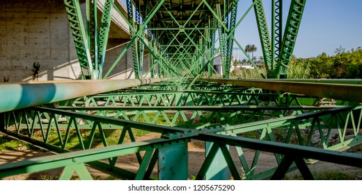 Support structure of a bridge in Oceanside CA