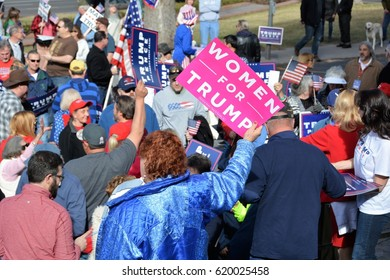 Supporters at the President Trump Rally at Denver, CO, March 4, 2017