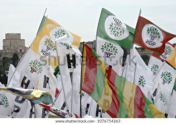 Supporters Prokurdish Peoples Democratic Party Hdp Stock