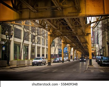 supports for Chicago's city elevated train