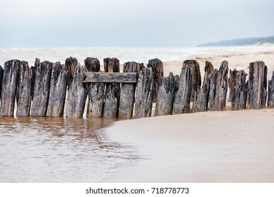 Supports of the old wooden pier