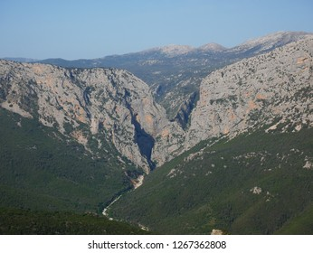 The Supramonte area of Sardinia, with the deepest gorge of Europe, the gorge of Su Gorropu