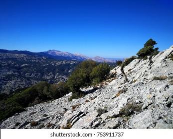 The Supramonte mountain in Sardinia