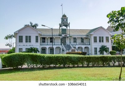 Supreme Court building at the Battlefield Park in Belize City, the capital of Belize in Central America