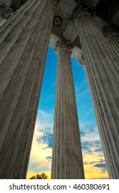 Supreme Court Building Columns in the Capitol of Washington DC