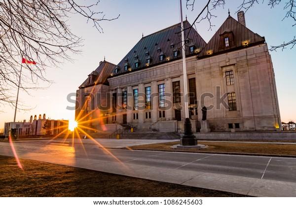 The Supreme Court Building in Ottawa, Ontario, Canada