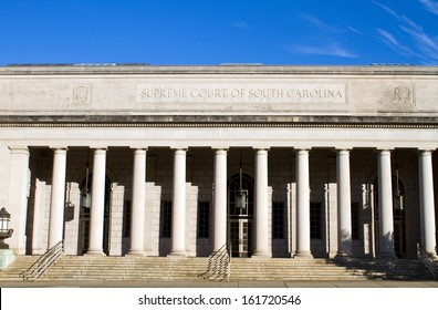 Supreme Court building of South Carolina located in Columbia, SC, USA.