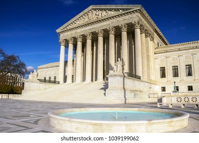 Supreme Court building in Washington, DC, United States of America