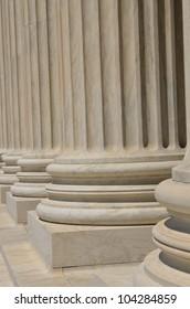 Supreme Court building in Washington DC - Columns detail