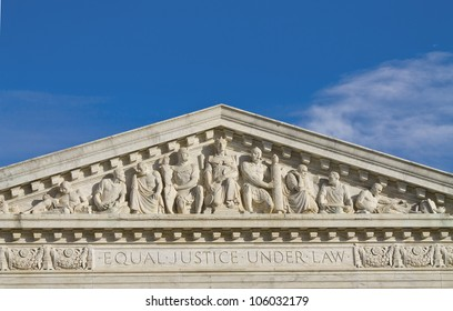 Supreme Court Building in Washington DC, United States, Building top shapes
