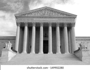 Supreme Court building in Washington, DC, United States of America - bw