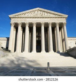 Supreme Court building in Washington, DC, USA.