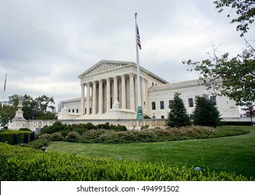Supreme Court building in Washington DC.