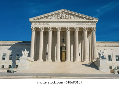 Supreme Court Building, where the Supreme Court of the United States meets, the highest federal court of the USA. Washington, DC