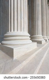 Supreme Court of United states columns row in Washington DC
