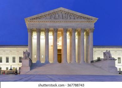 Supreme Court of United States - Night shot