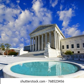 Supreme Court Of The U.S. with reflectng pool.