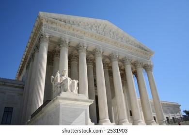 Supreme Court Washington DC with statue
