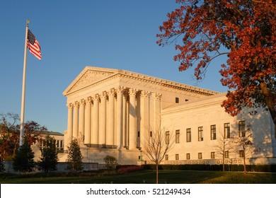 The Supreme Court in Washington DC, USA