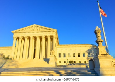 The Supreme Court in Washington DC, USA