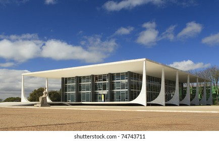 Supreme Federal Court building located in the city of Brasilia, Brazil, is the  highest court of law for constitutional issues in the country.