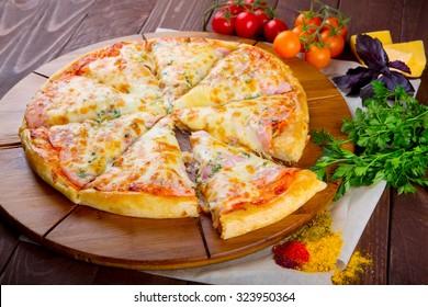 Supreme Italian Pizza close-up