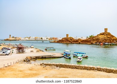 Sur, Oman - August 16, 2018: Sur in Ash Sharqiyah Region, Oman. It is located about 150 km southeast of the Omani capital Muscat.