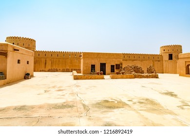 Sur, Oman - August 16, 2018: Sunaysilah Fort in Sur, Oman. It is located about 150 km southeast of the Omani capital Muscat.