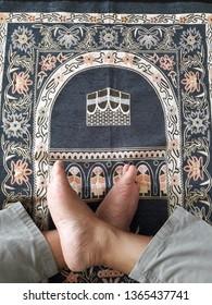 Surabaya, April 10, 2019: sajadah, prayer is a mandatory worship for Muslims