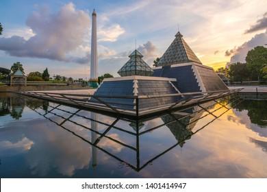 surabaya, east java, indonesia, 19 may 2019 , the heroes monument in surabaya city, east java, indonesia